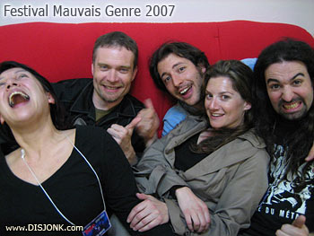 Maya, Paul, Gary, Ray et Syl