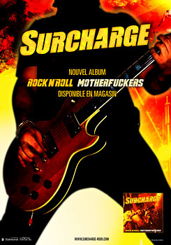 Promotional poster graphic design - Surcharge : Rock n' Roll Motherfuckers