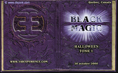 Design de flyer pour l'événement techno Black Magic