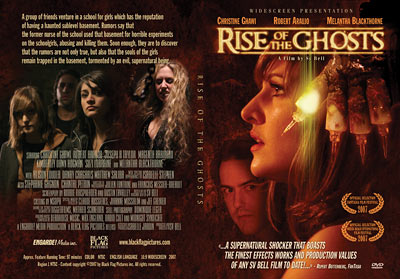 Design jaquette DVD du film d'horreur Rise of the Ghosts
