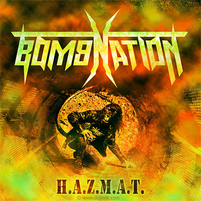 Design pochette CD - thrash metal - Bomnation : H.A.Z.M.A.T.