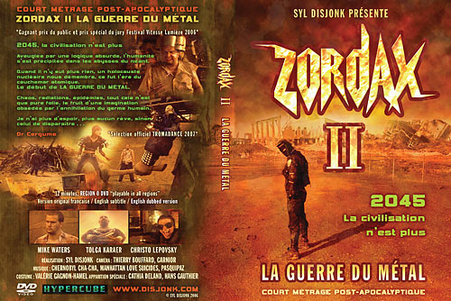 Zordax II the Metal War - Post Apocalyptic short film - DVD box design
