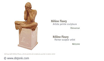 Website design for the artist Hélène Fleury homepage