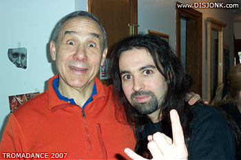 Lloyd Kaufman founder of Tromadance & Syl Disjonk