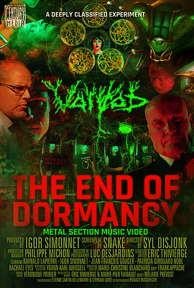 Voivod : The End of Dormancy affiche pour le  vidéoclip heavy thrash metal à saveur de science-fiction.